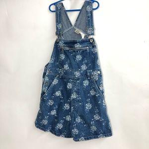 Rachel's kids vintage floral denim overalls
